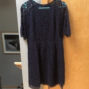 NWT Madewell navy blue lace dress